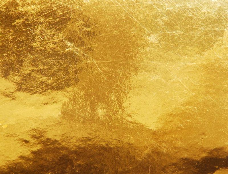 有划痕的金色背景