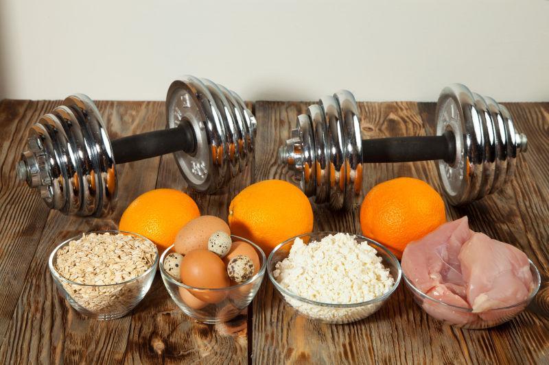 健康饮食水果和运动