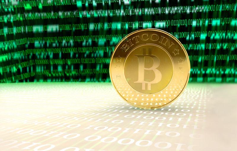 竖立的虚拟货币