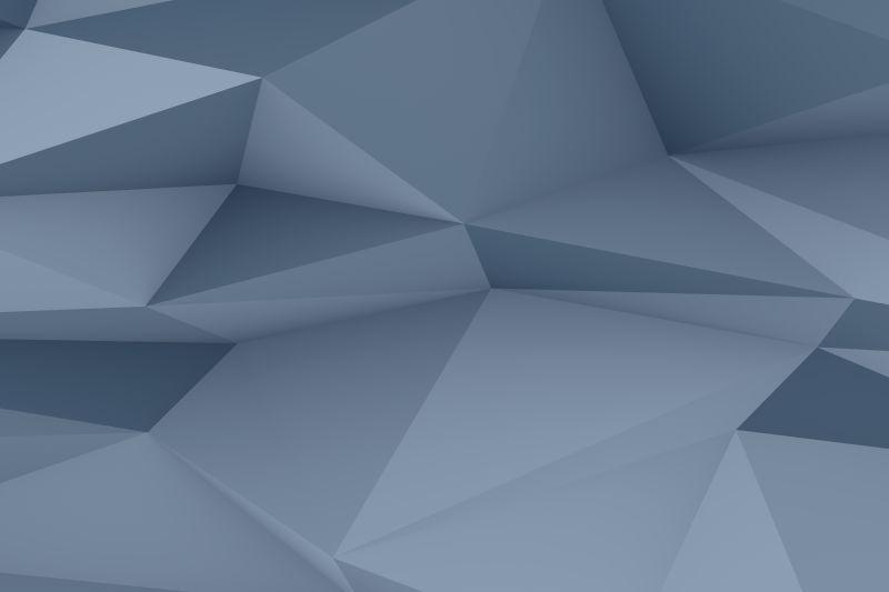 浅灰色多边形立体背景