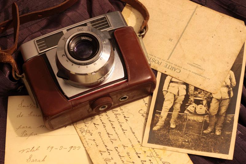复古相机和相片