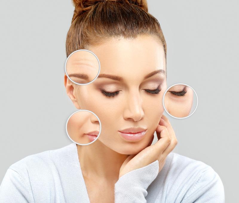 成熟女性脸上的皮肤问题