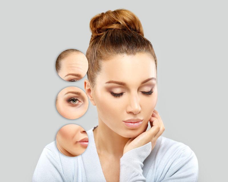 女性的脸上皮肤的问题