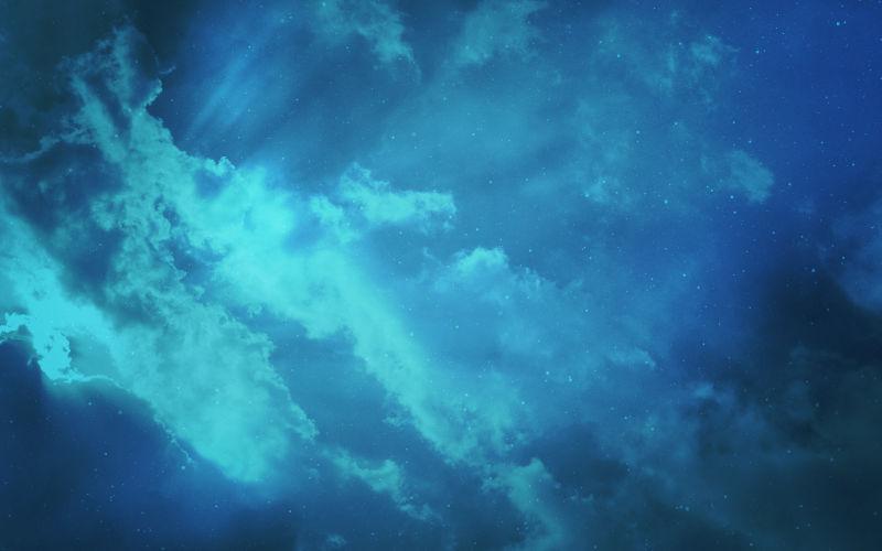 抽象的蓝色天空