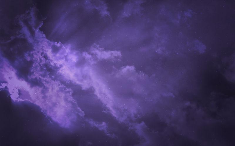 淡紫色的天空