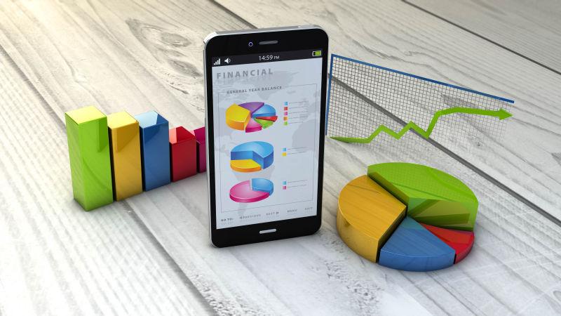 智能手机与塑料模型
