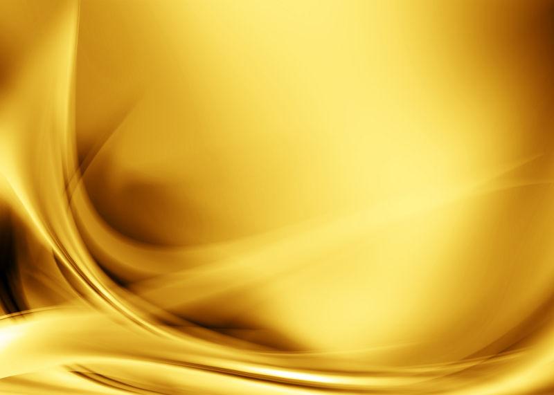 暖曲线的橙黄背景