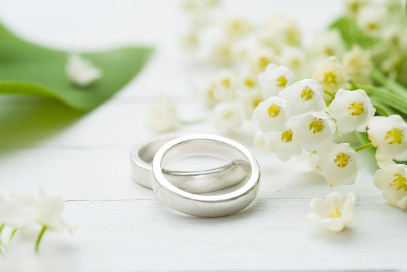 纯银结婚对戒