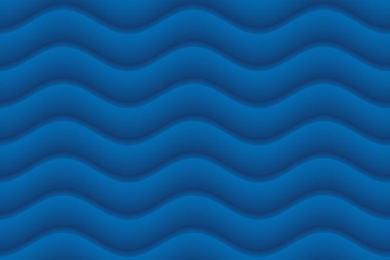 蓝色背景上的波浪纹理