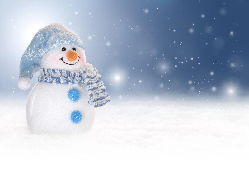 圣诞节微笑的雪人