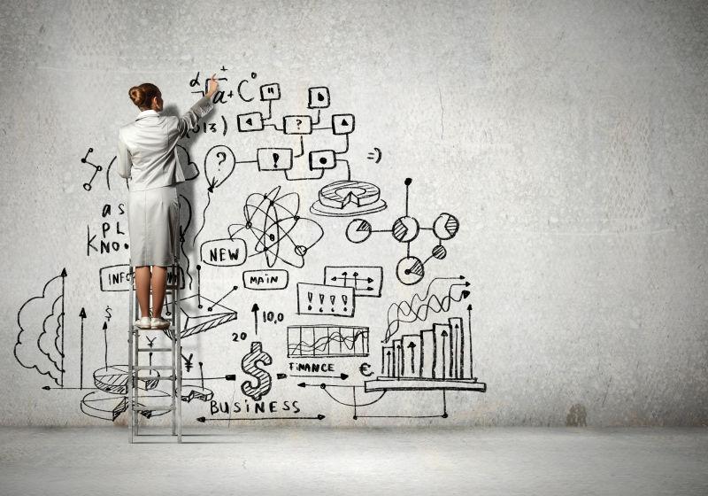 女商人创意商业概念