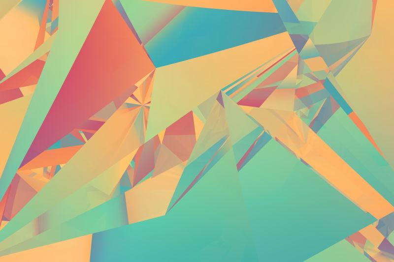 水晶折射的三角形背景