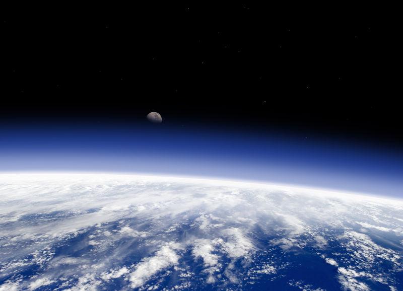 地球从太空看到的地平线