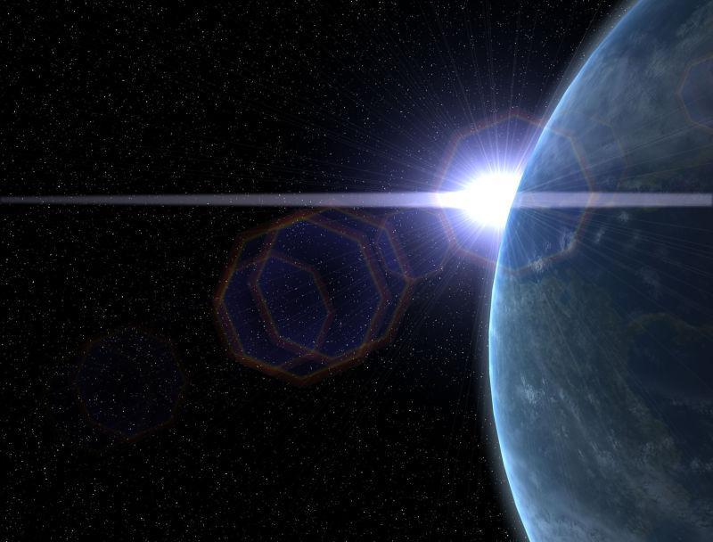 太空的地球