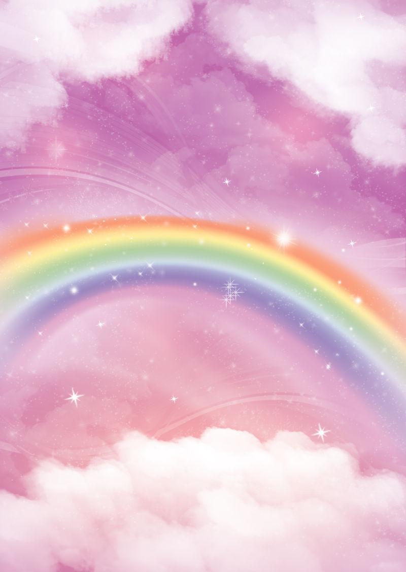 天空中五颜六色的阿科虹膜