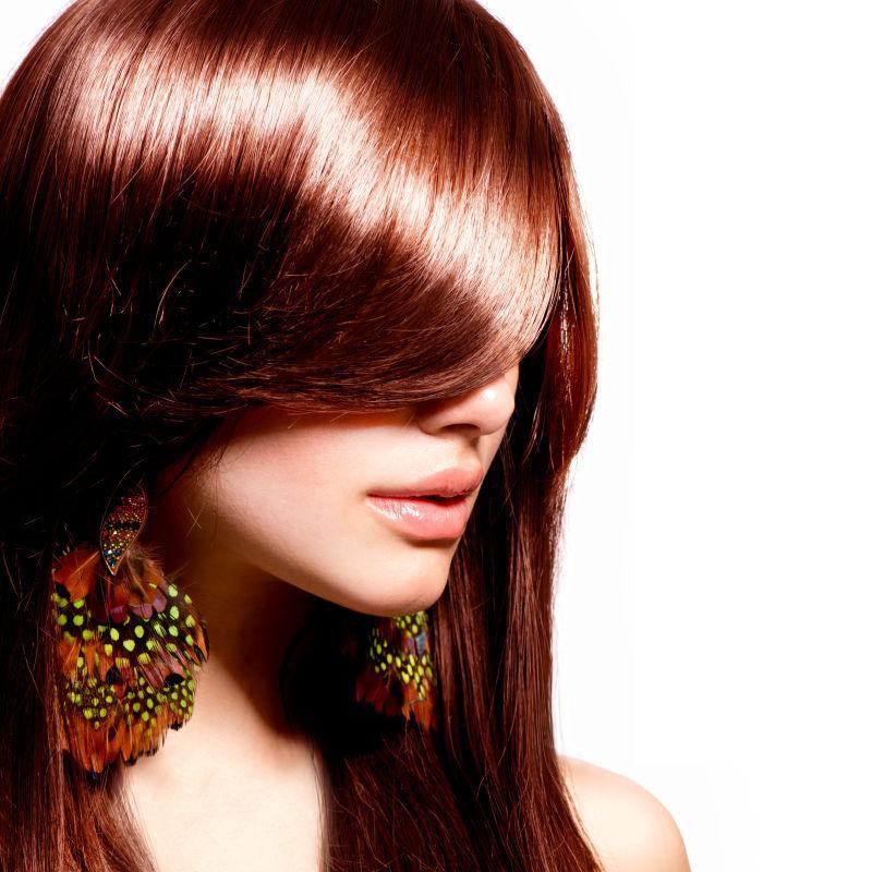 美女模特的闪亮秀发