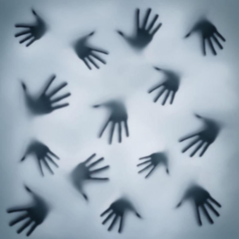 各种不同的手轮廓
