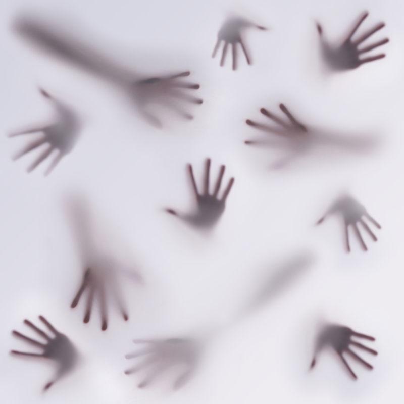 许多不同的手
