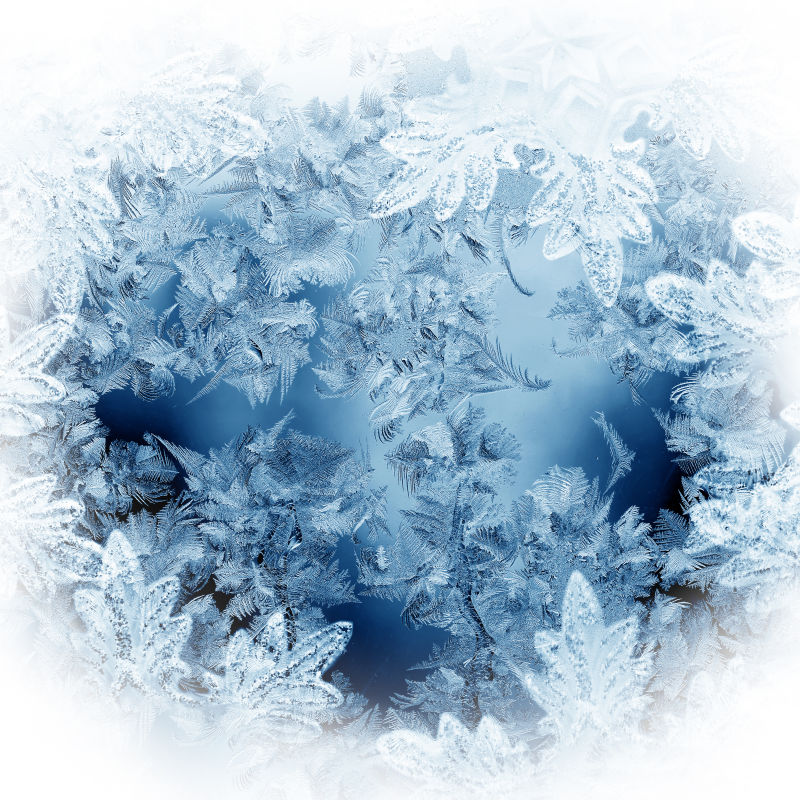 圣诞节的冰霜