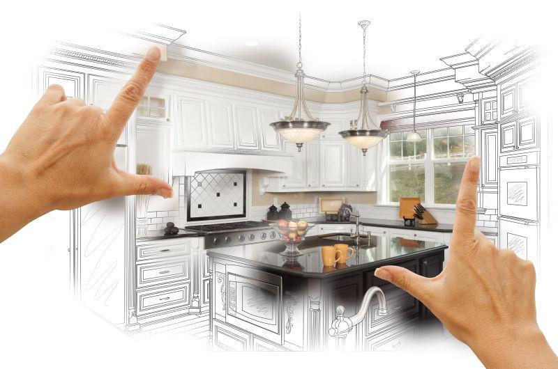 女性手框架定制厨房设计方案
