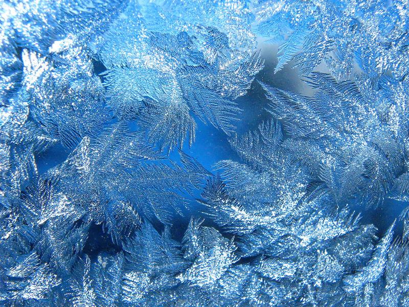 玻璃上的冰霜纹理