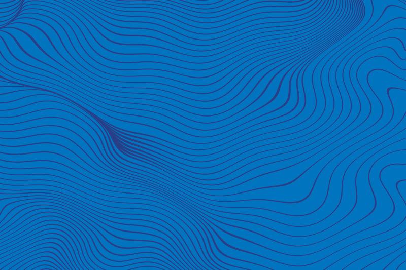 天蓝色的抽象线型波形背景