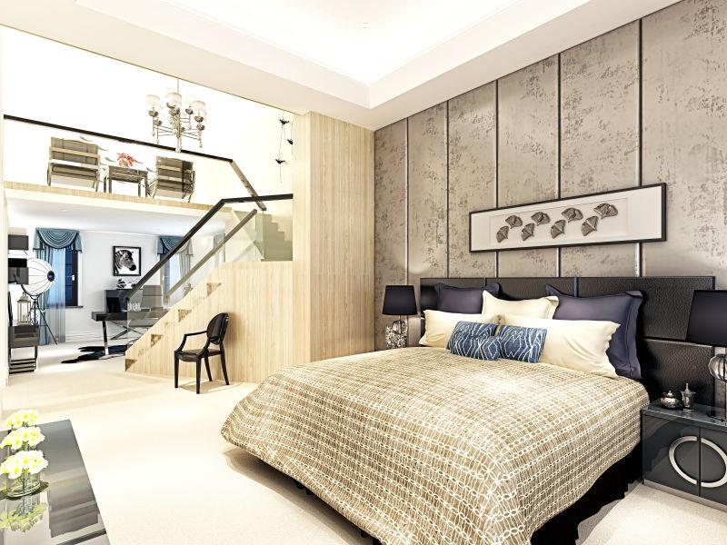 豪华现代卧室装修效果图
