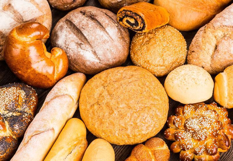 美味的烘焙小麦面包