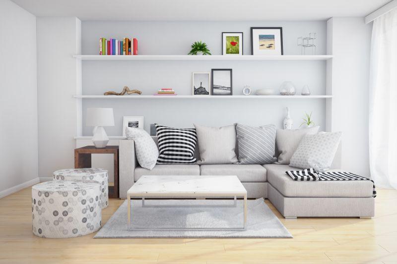 现代简约的浅色调客厅装修