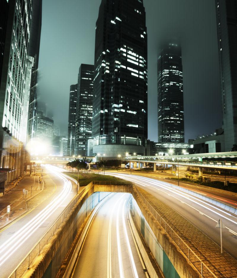 晚上在香港的交通