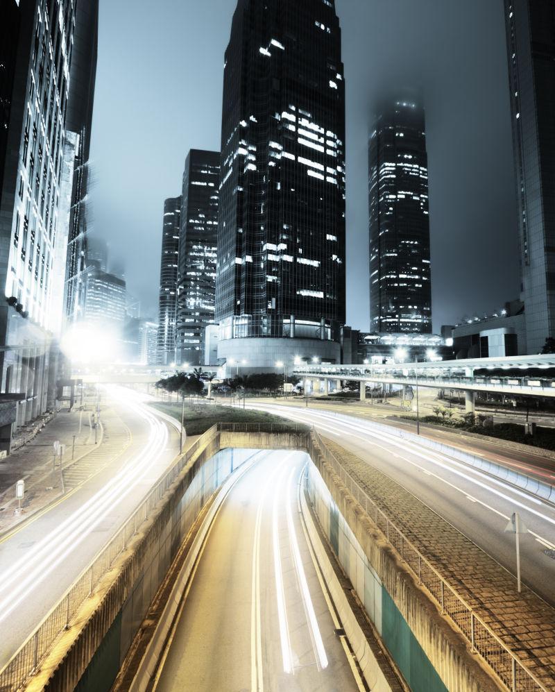 晚上在香港交通