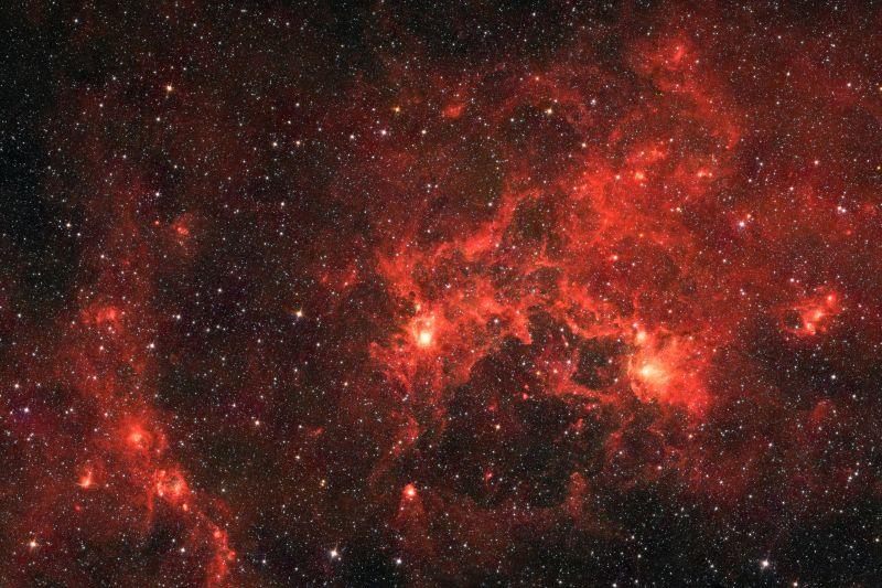 美丽的红色银河
