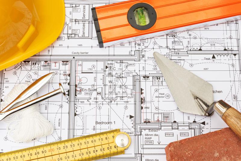建筑设计平面图上的建设用品