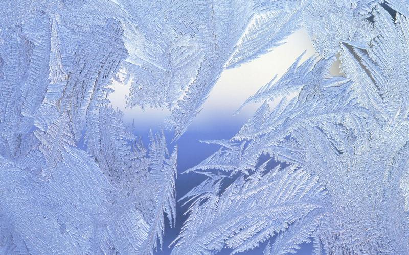 漂亮的玻璃霜