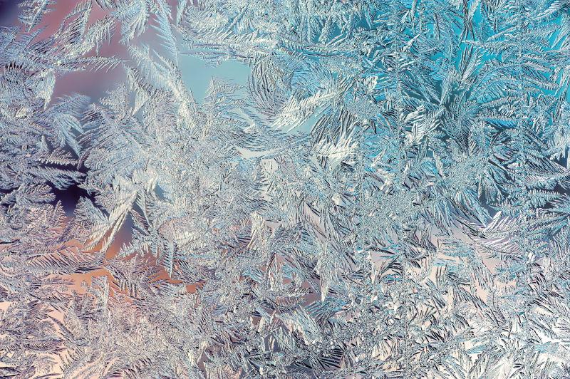 玻璃上的冰霜