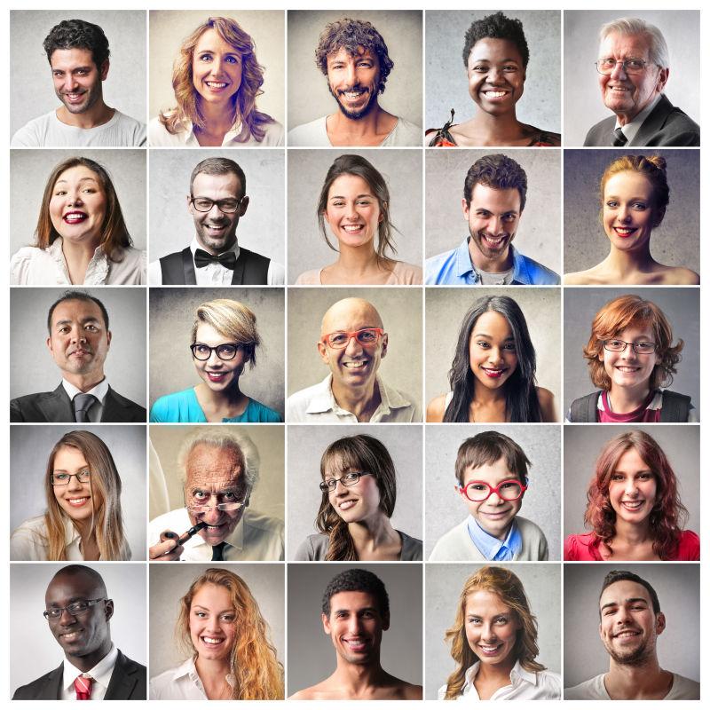 多样性人脸的拼贴