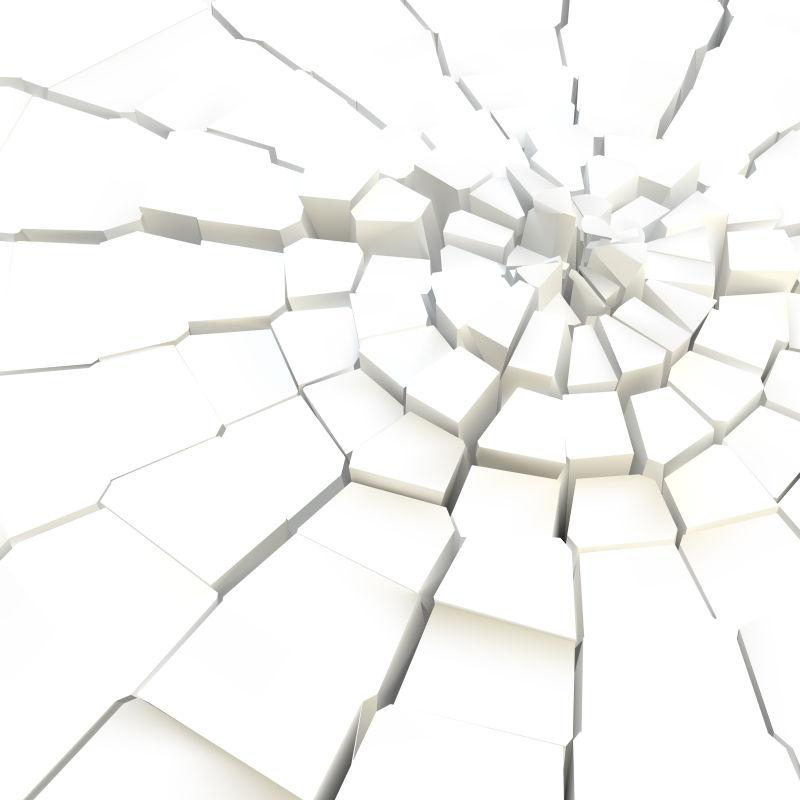 破裂的白色地表