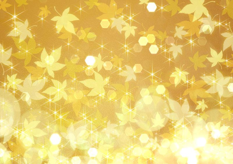 无缝式金色枫叶