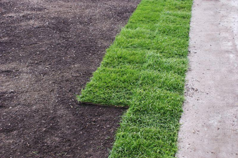 正在铺设的草坪