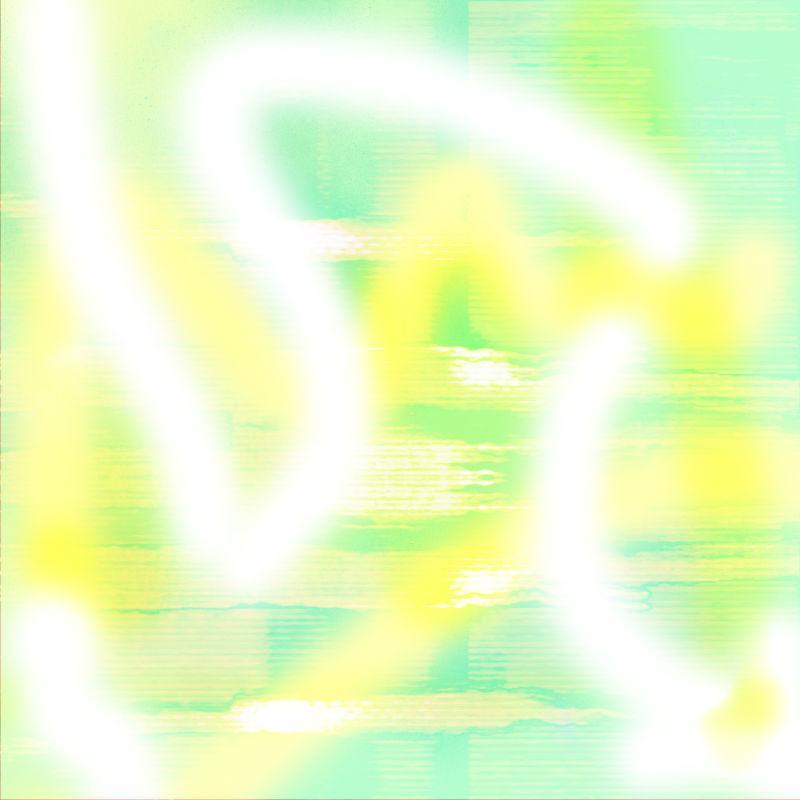 黄色和绿色背景上的白色线条图案
