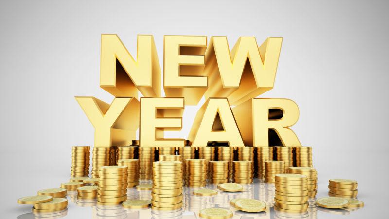 新年快乐与金币