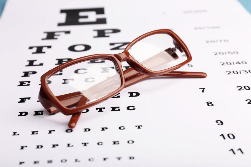 视力表视力表眼镜
