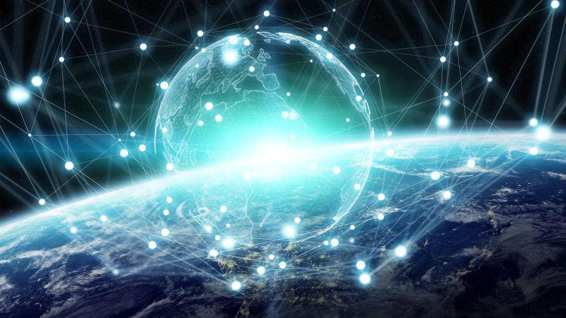 全球网络与地球地球三维数据交换创意