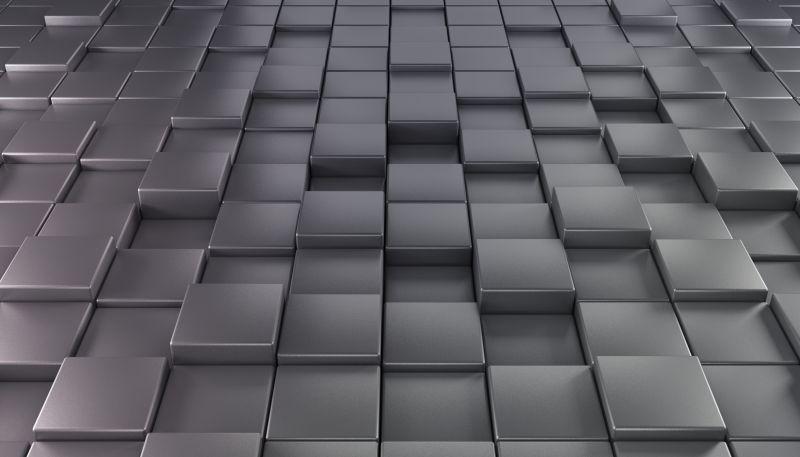暗灰色的抽象立方体