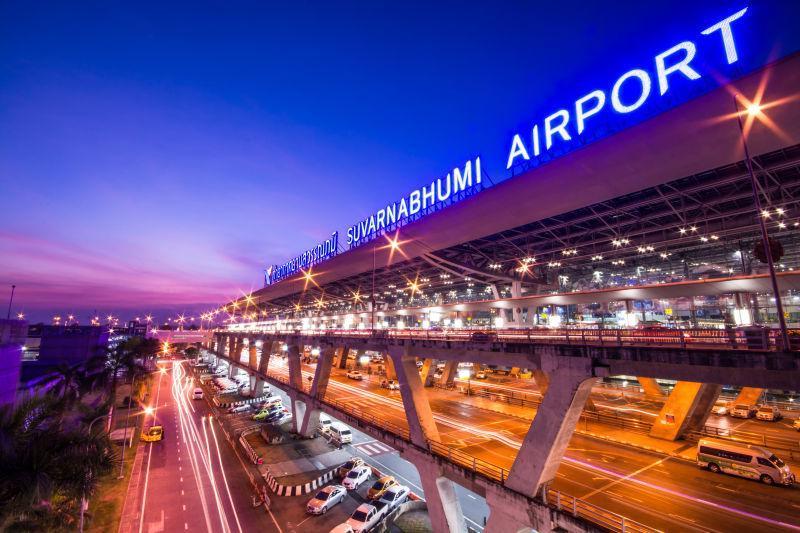 孟加拉国在泰国曼谷夜景