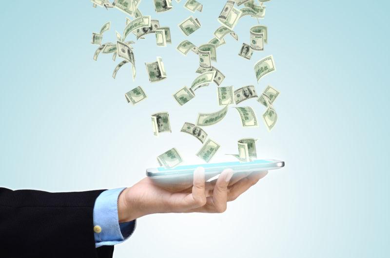 利用手机互联网赚大钱的概念
