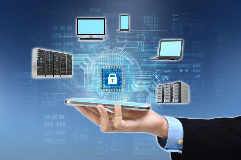 展示安全互联网概念