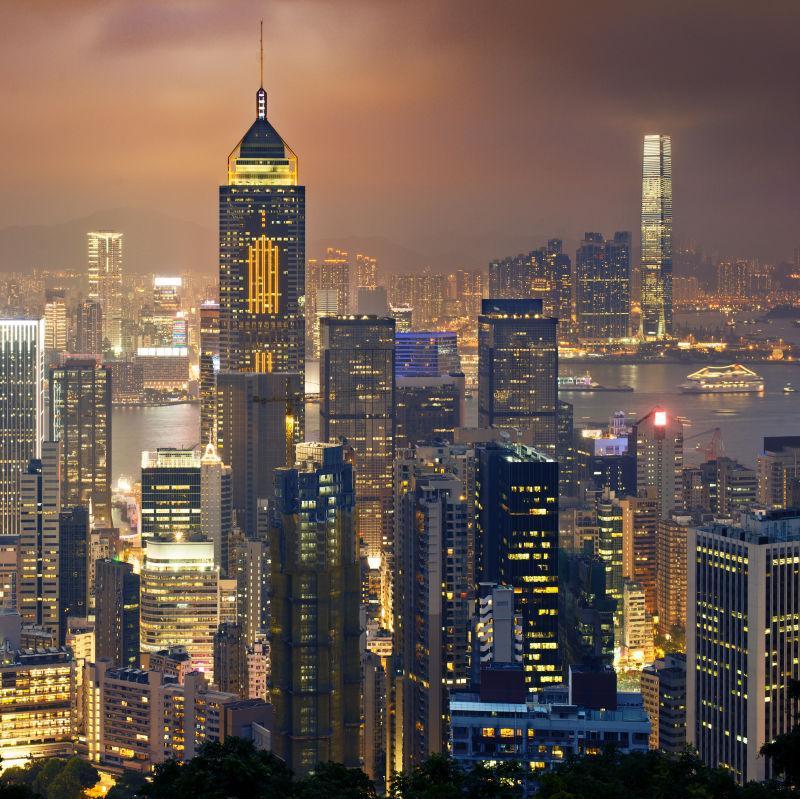 香港和九龙夜景