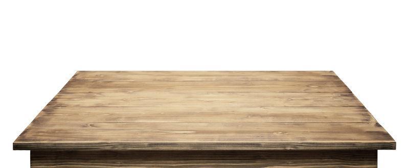 白色桌面背景的木桌面