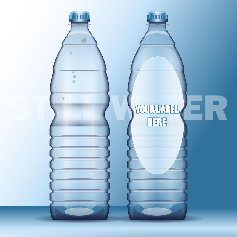 透明矿泉水瓶矢量
